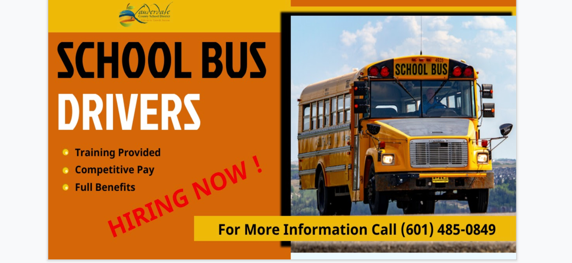 Bus Drivers Needed