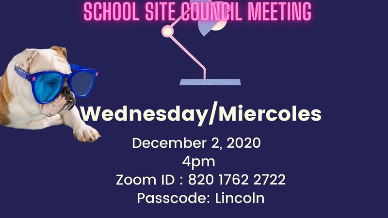 Student Site Council Meeting