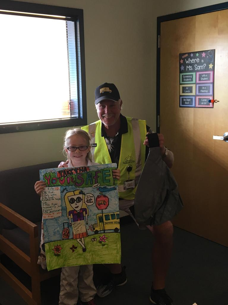 Tabitha - National School Bus Safety Week - Art Contest Winner