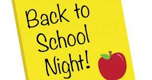 Virtual Back to School Night September 18th/Noche virtual de regreso a clases 18 de septiembre Thumbnail Image