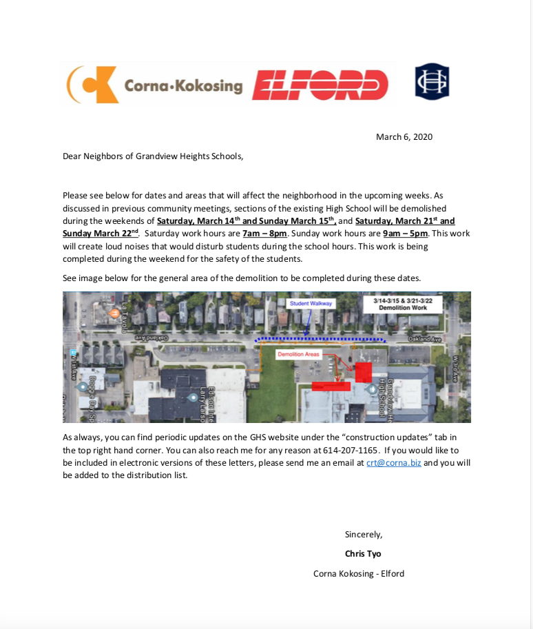 Neighbor Letter 3.6.2020