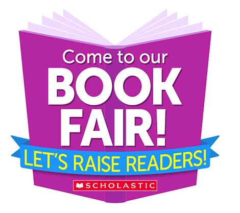 Book Fair is Coming Logo reads