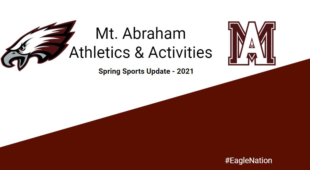 Mt. Abraham Athletics: Spring Sports Update