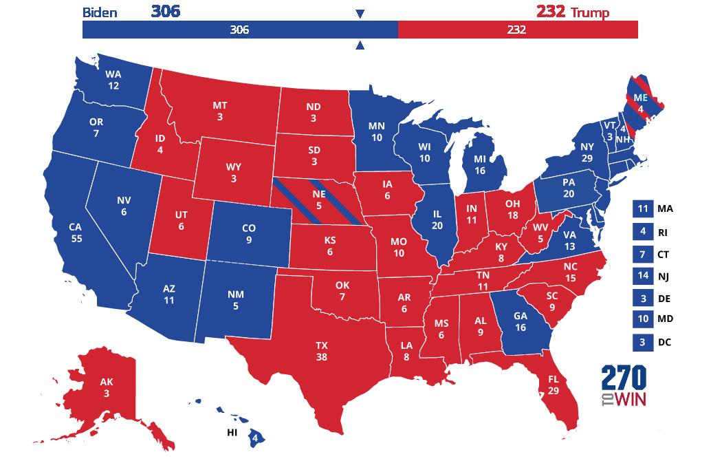 Electoral College Map Picture