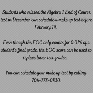 Make up EOC Algebra