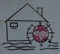 Meeks Mill Garden Club Logo - water wheel house