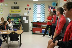 COHS HOSA students present to LJH students