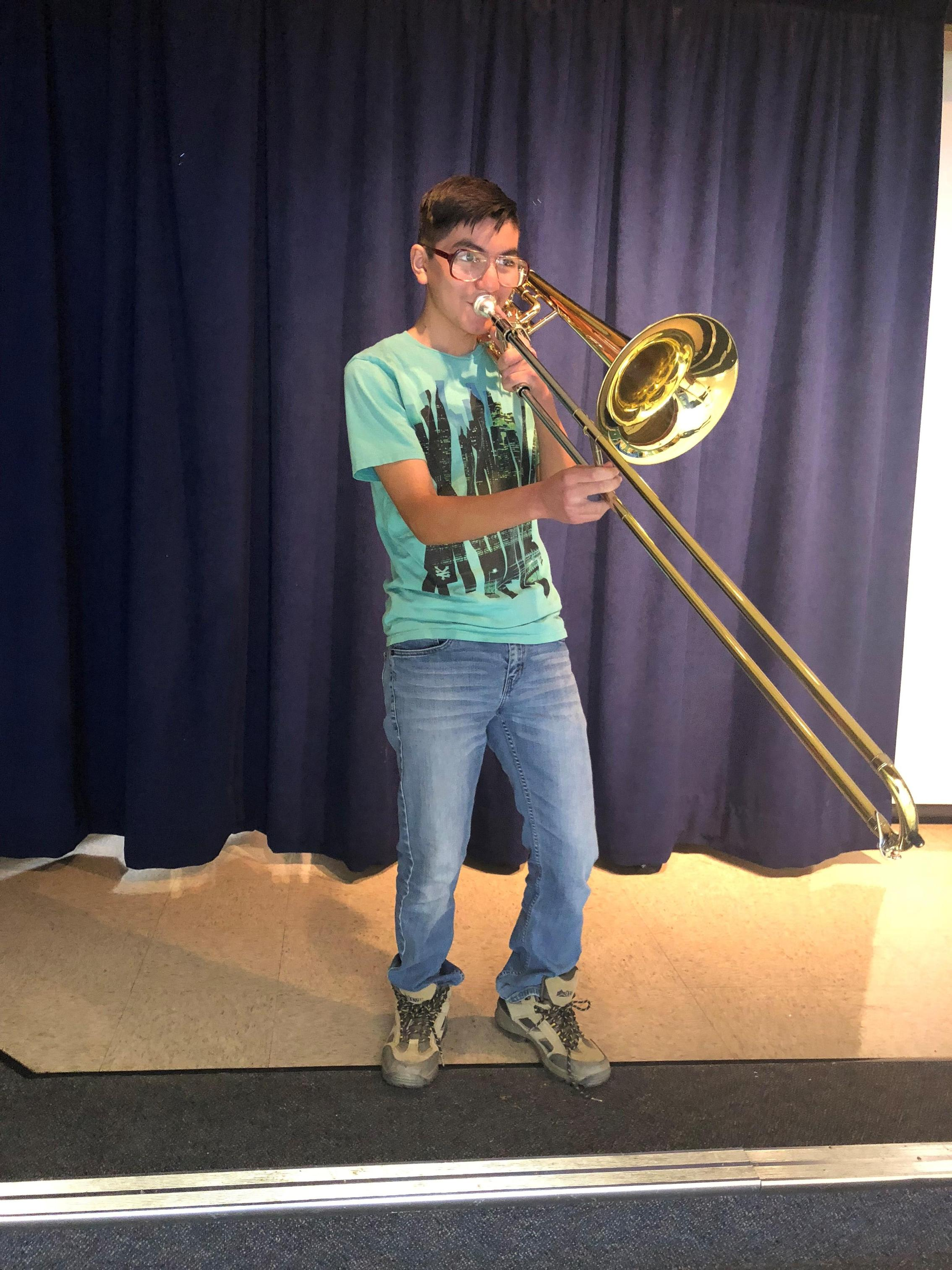 Alexander Gonzalez Playing Trumpet