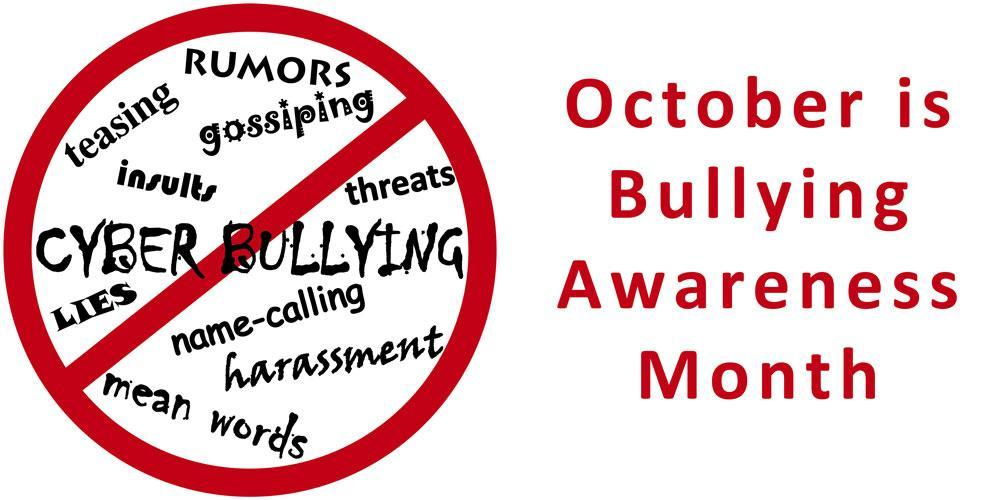 Picture lists things not to say or do for Bullying Awareness Month