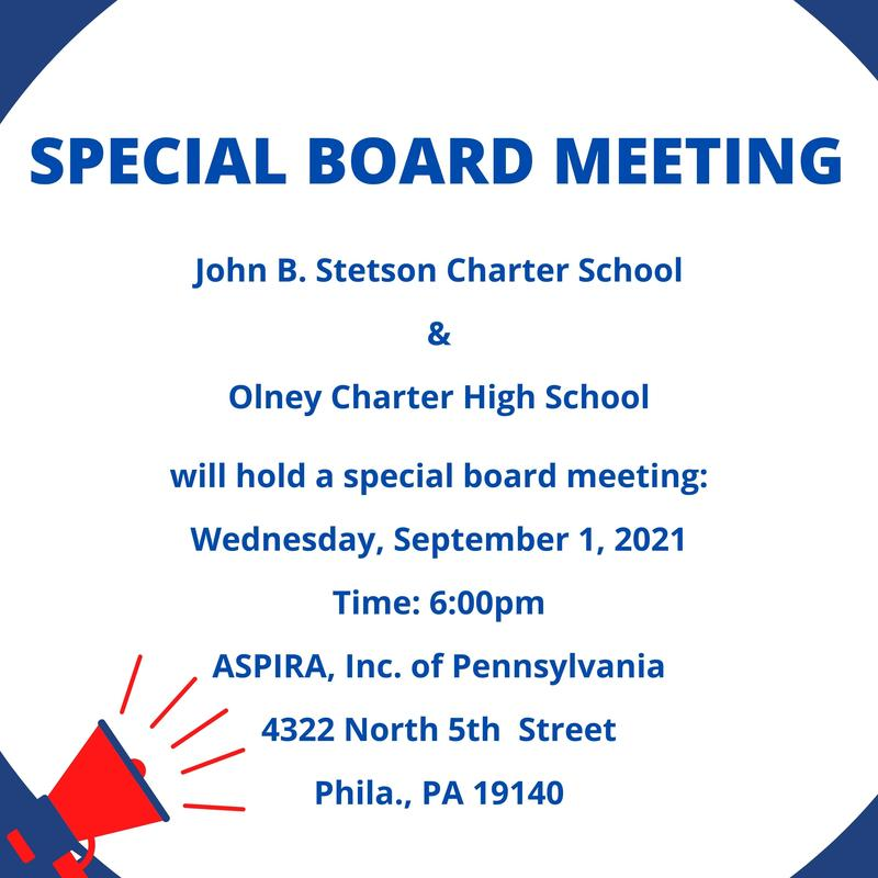SPECIAL BOARD MEETING TO BE HELD SEPTEMBER 1, 2021 Featured Photo