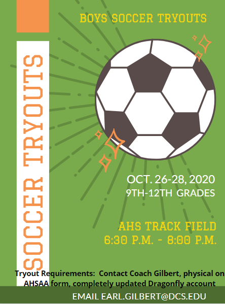 soccer tryout info
