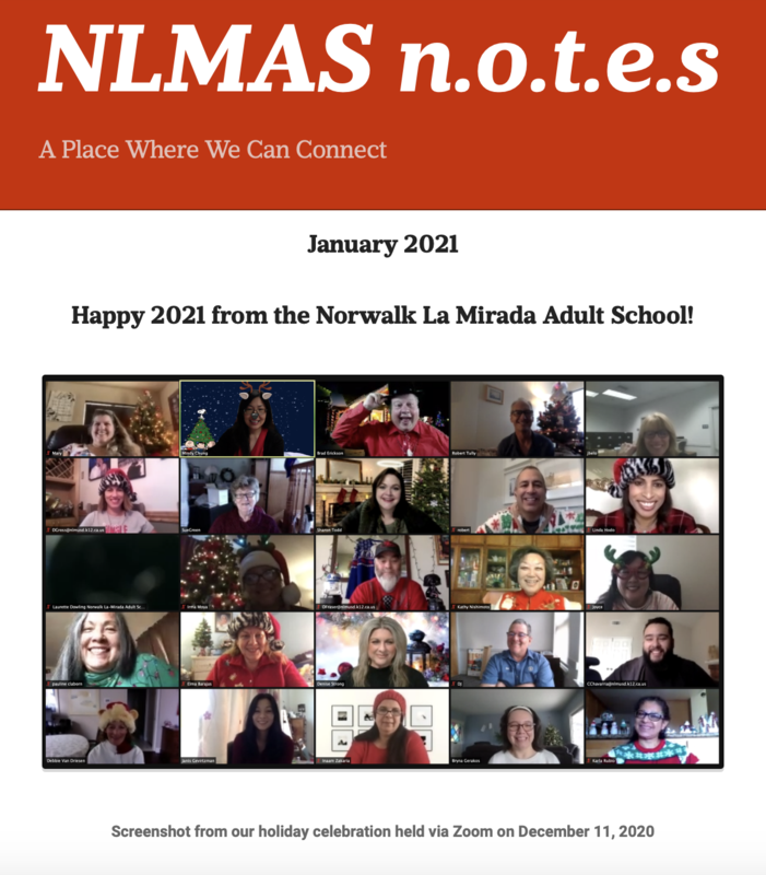 NLMAS n.o.t.e.s for January 2021! Featured Photo