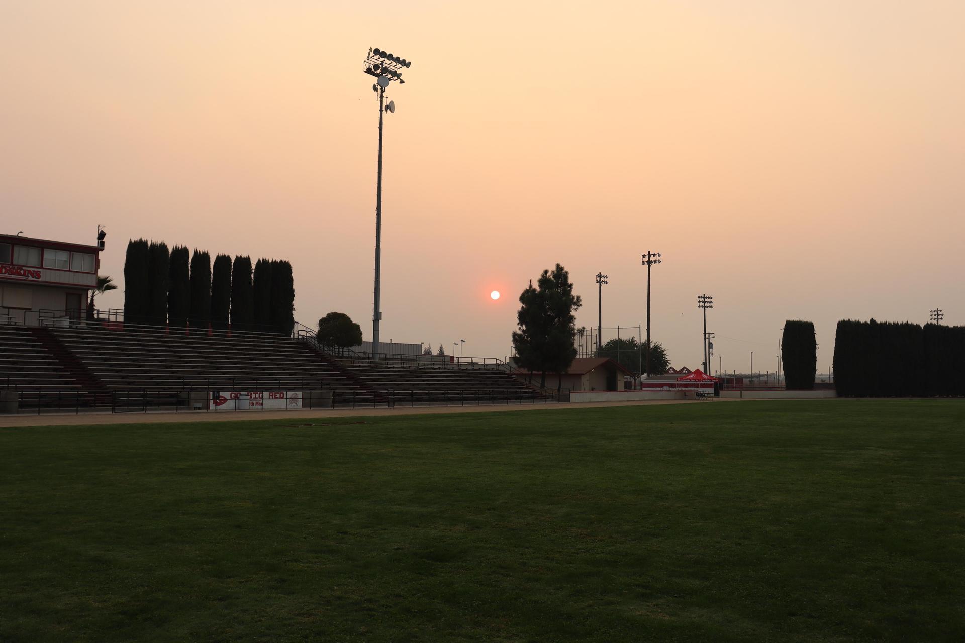 sunrise through the smoke