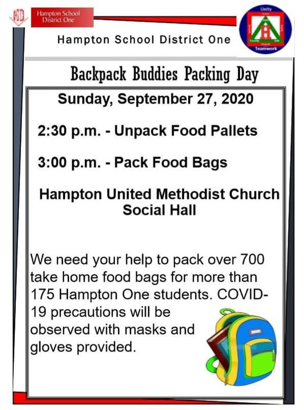 Backpack Buddies Packing Day