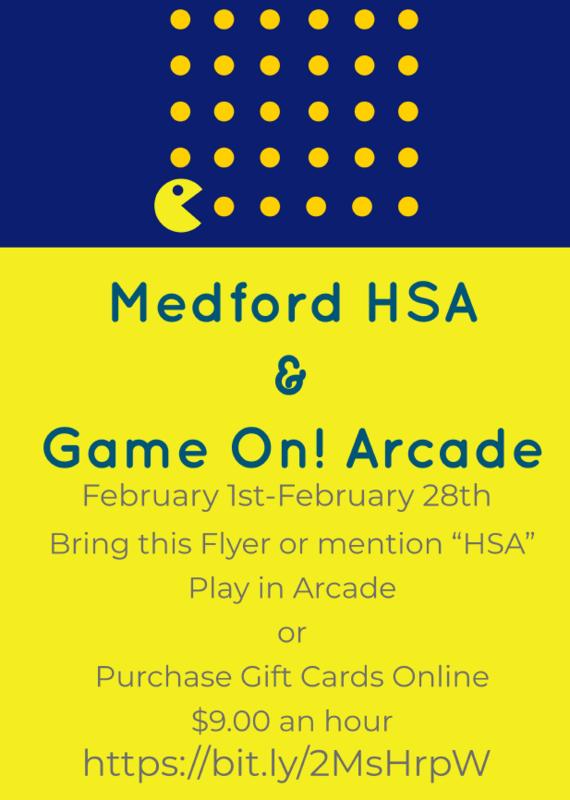 Game on Arcade flyer