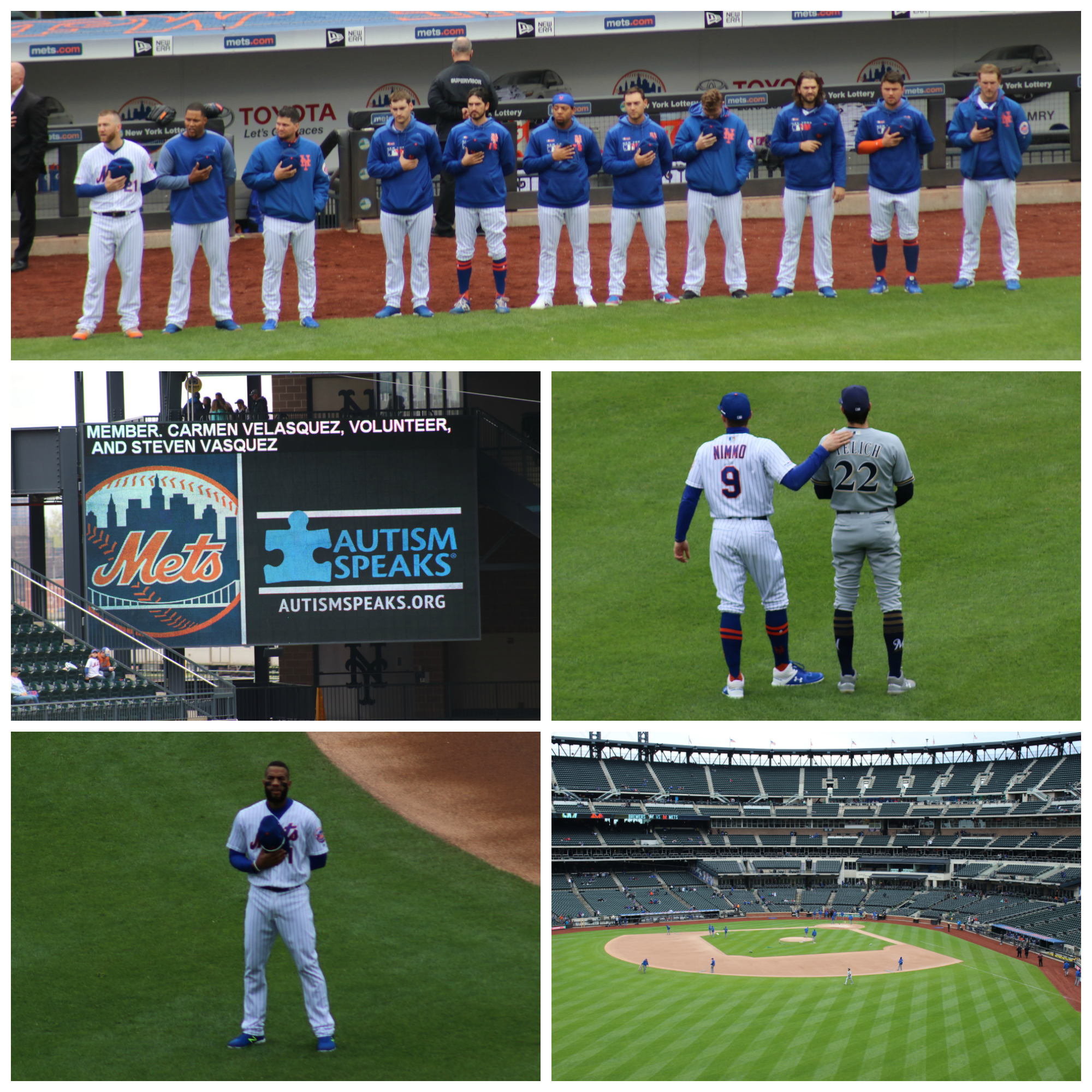 Collage of Mets players and Citi Field