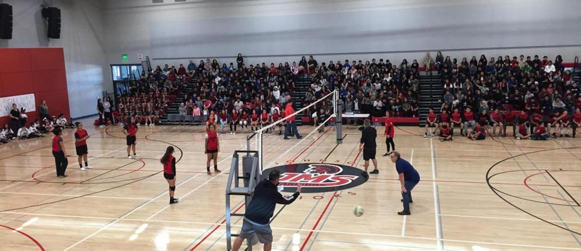 Teachers vs. Students Pep Rally