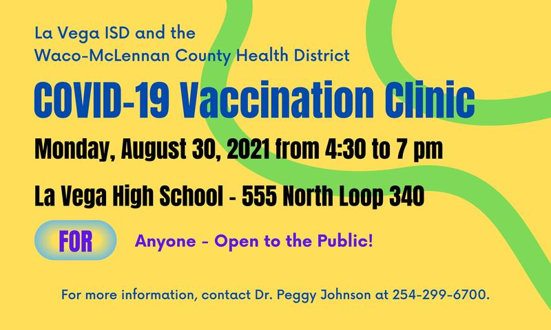 COVID-19 Vaccine Clinic August 30th Thumbnail Image