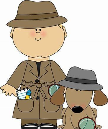 picture of a detective and a dog