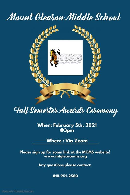 MGMS Fall Awards Ceremony