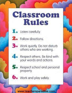 Rules for Class
