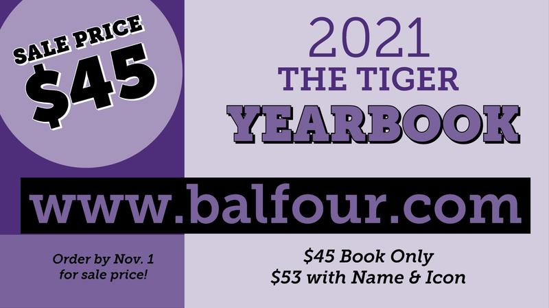The 2021 Tiger Yearbook is on Sale Now! Thumbnail Image