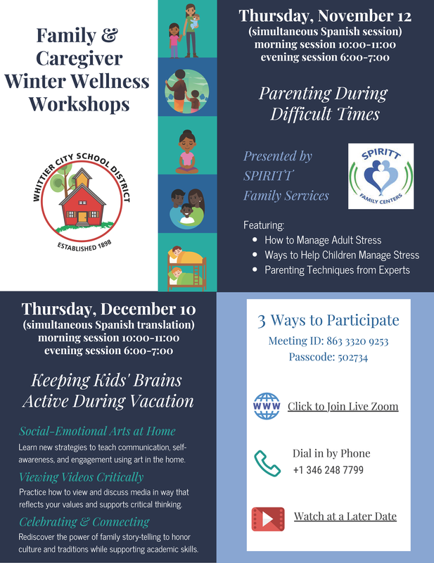 Winter Parent Flyer