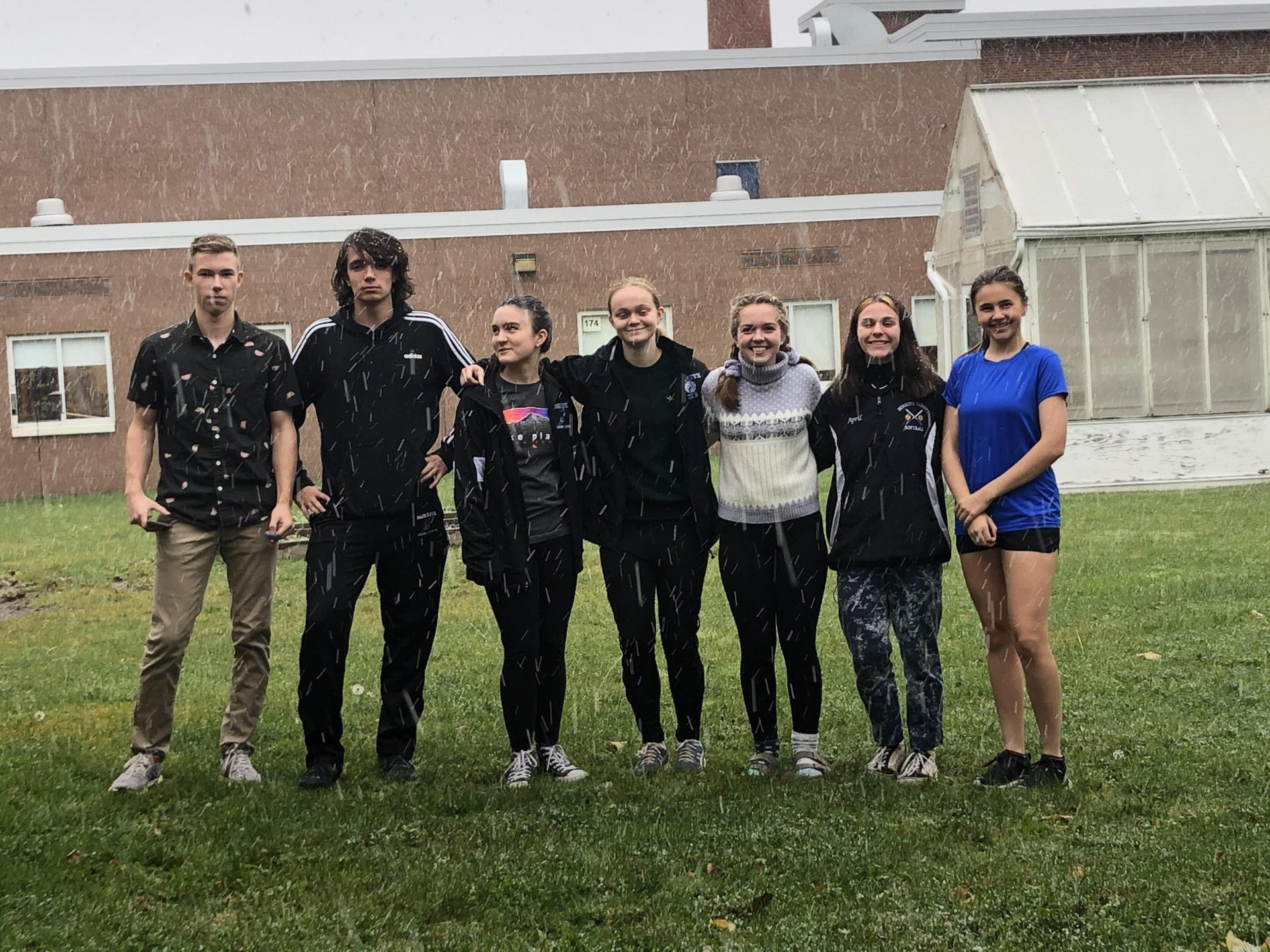 Precalc students enjoying the first snowfall of the season!