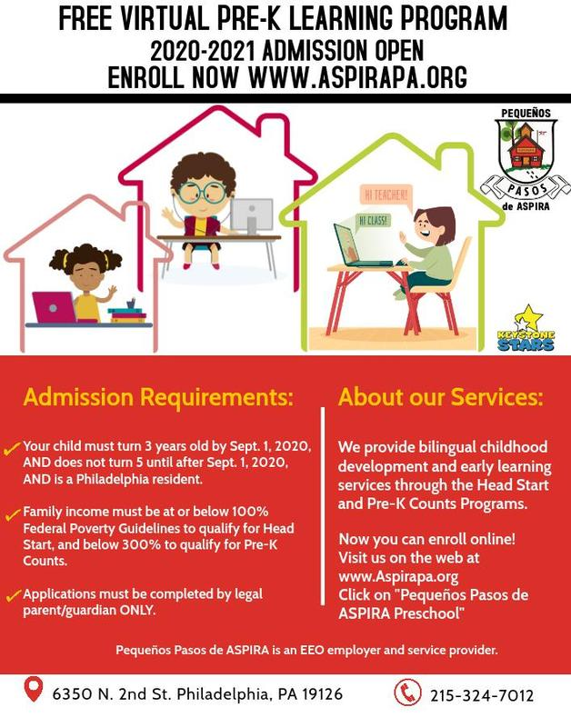 ADMISSION FOR THE 2020-2021 PRE-K SCHOOL YEAR IS OPEN Featured Photo