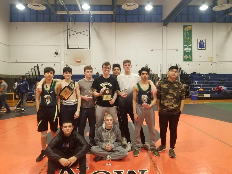 Maspeth High Varsity Wrestlers Participate @ Springfield Gardens HS Tournament Featured Photo
