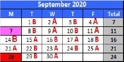 September A/B Schedule
