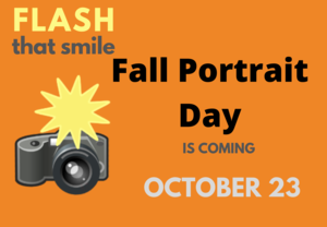 Fall portrait day is October 23
