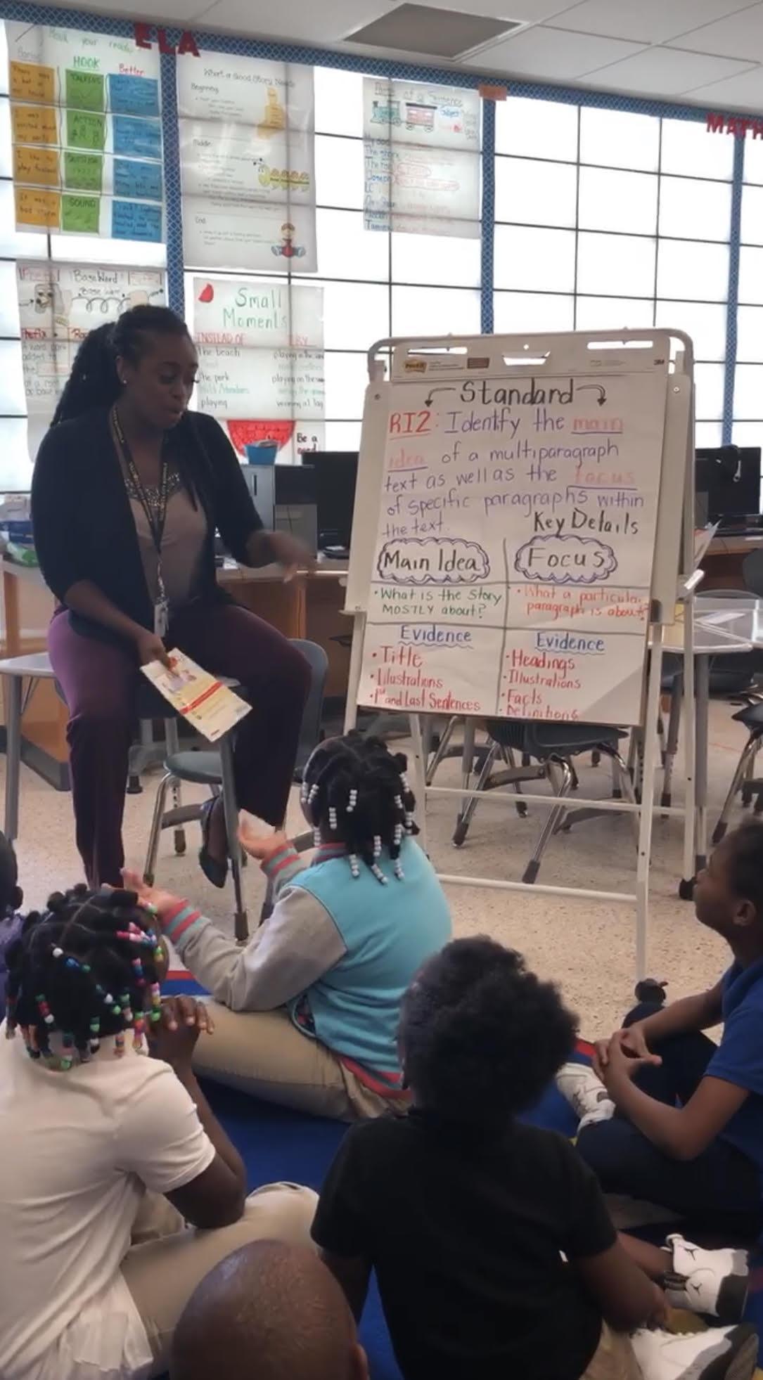 2nd grade teacher using standards-based instruction