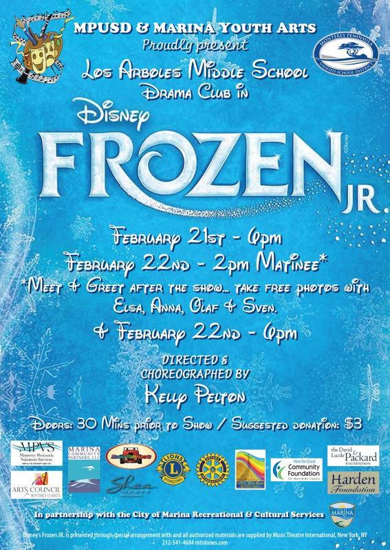Frozen Junior Performance Dates Featured Photo