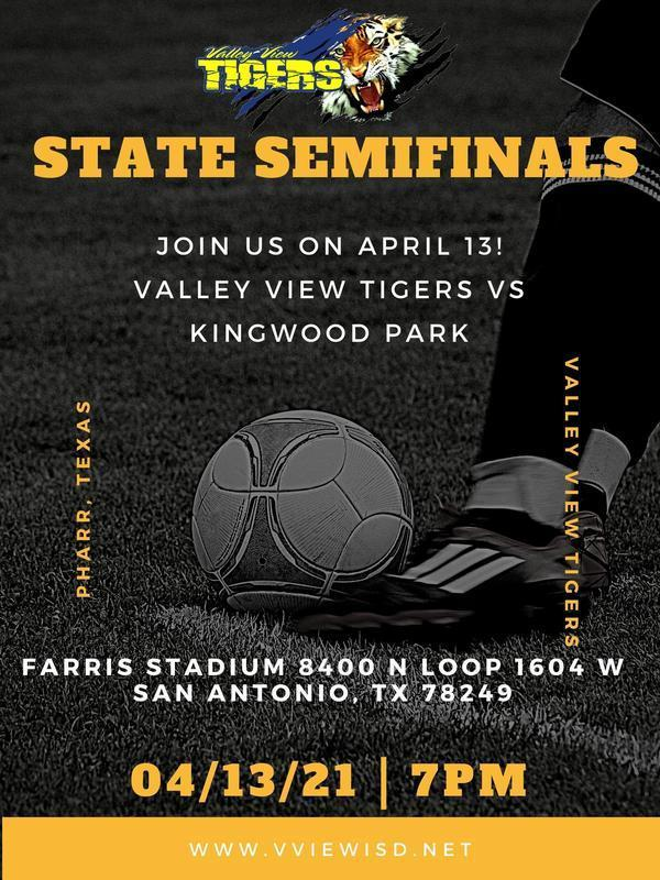 Congratulations Valley View Tigers for advancing to the state semifinals!! Games details below. Thumbnail Image