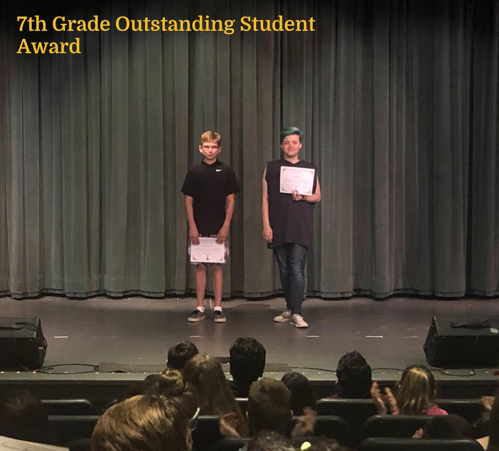 7th Grade Outstanding Students