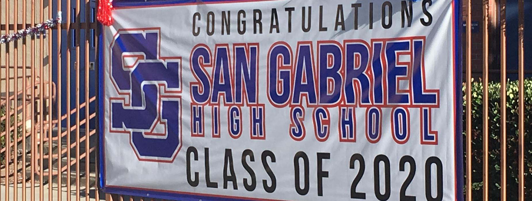 Congratulating Class of 2020 Banner
