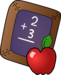 chalkboard and apple