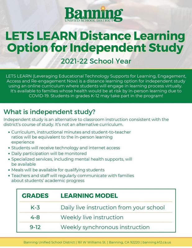 Distance Learning Options Info