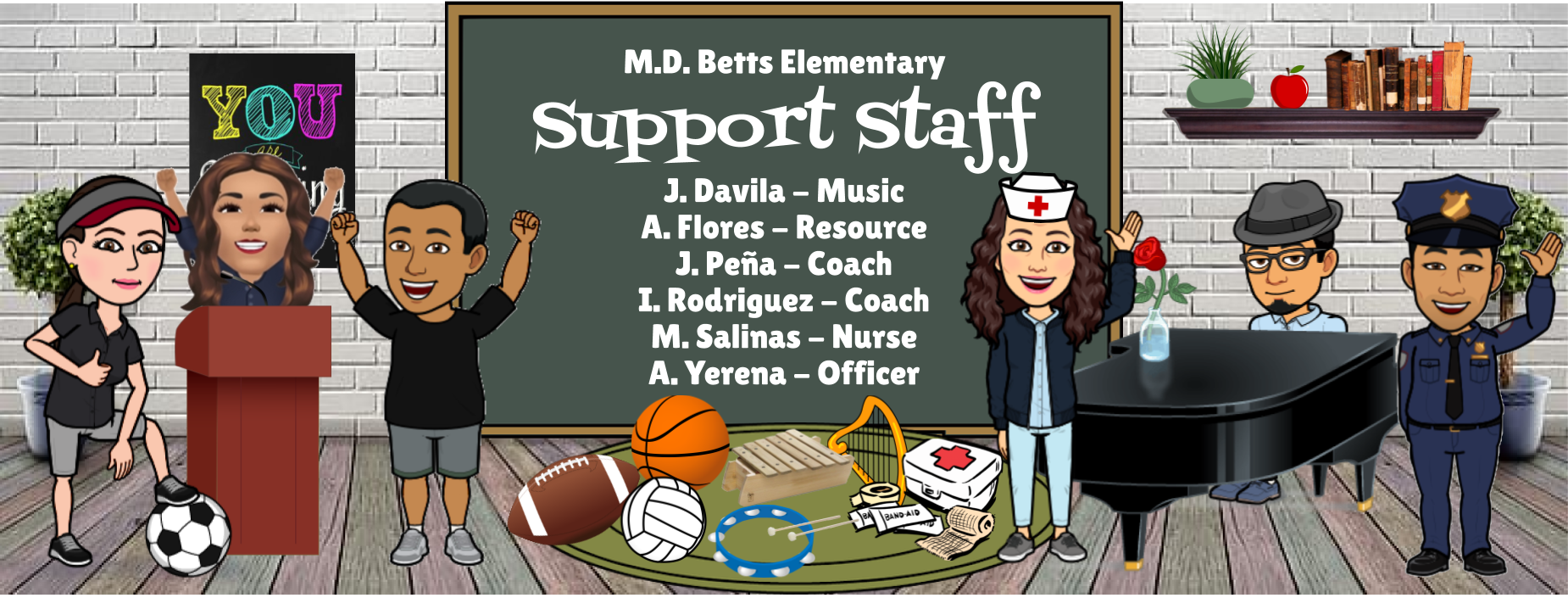 Image of Bitmoji Staff - Support Staff