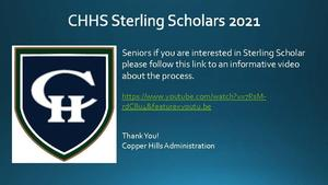 Sterling Scholars 2021