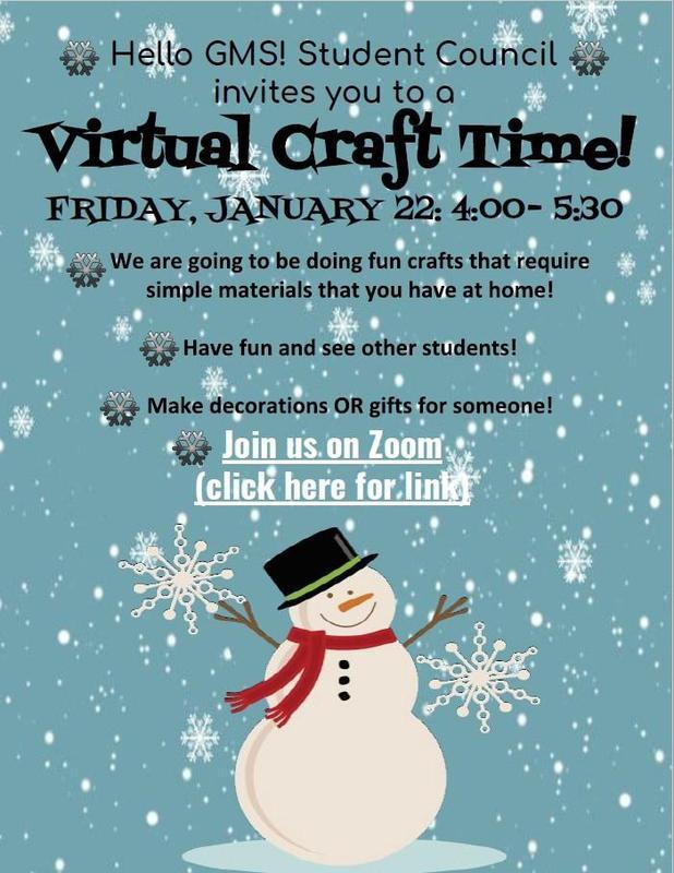 Virtual Craft Night January 22, 2021
