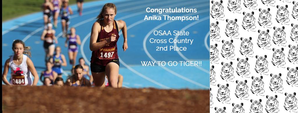 JCHS Cross Country - Anika Thompson OSAA State 2nd Place Finish!