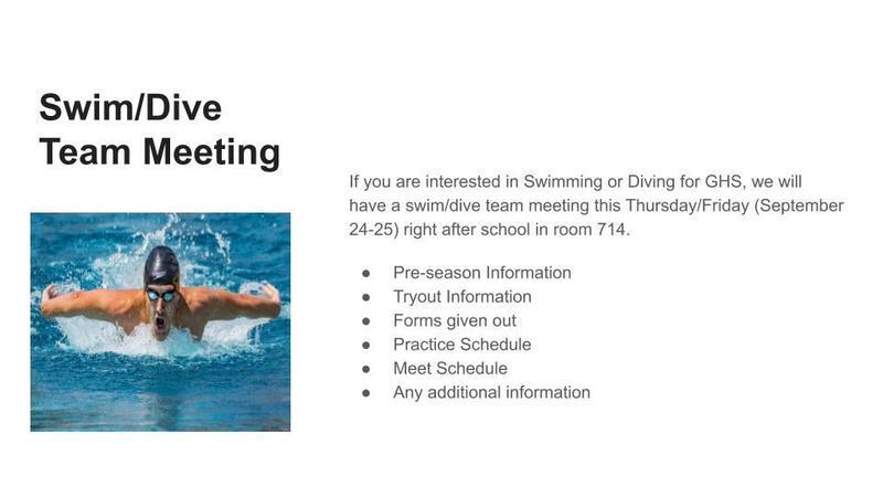 Swim Team Meeting