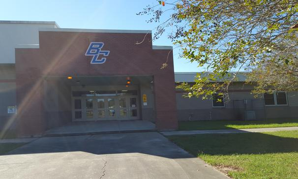 Front Entrance of Beau Chene High School