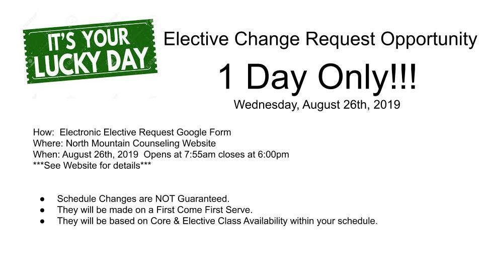 Elective Change Opportunity