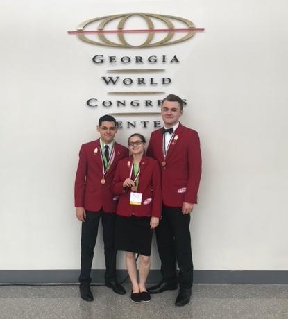 The Brewer High School Culinary Arts Team won a bronze medal in the National FCCLA Competition in Atlanta, Ga. on June 30, placing them among the best culinary teams in the US.