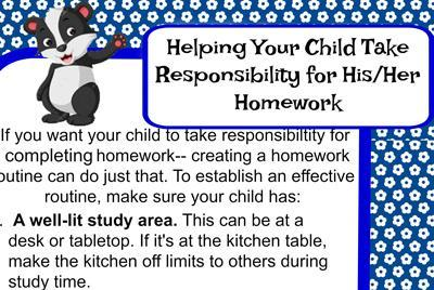 Help Your Child Take Responsibility for Homework Featured Photo