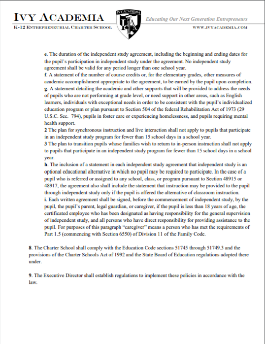 Independent Study Policy Page 4