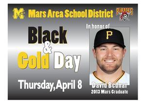 Mars Area School District Black & Gold Day - April 8, 2021